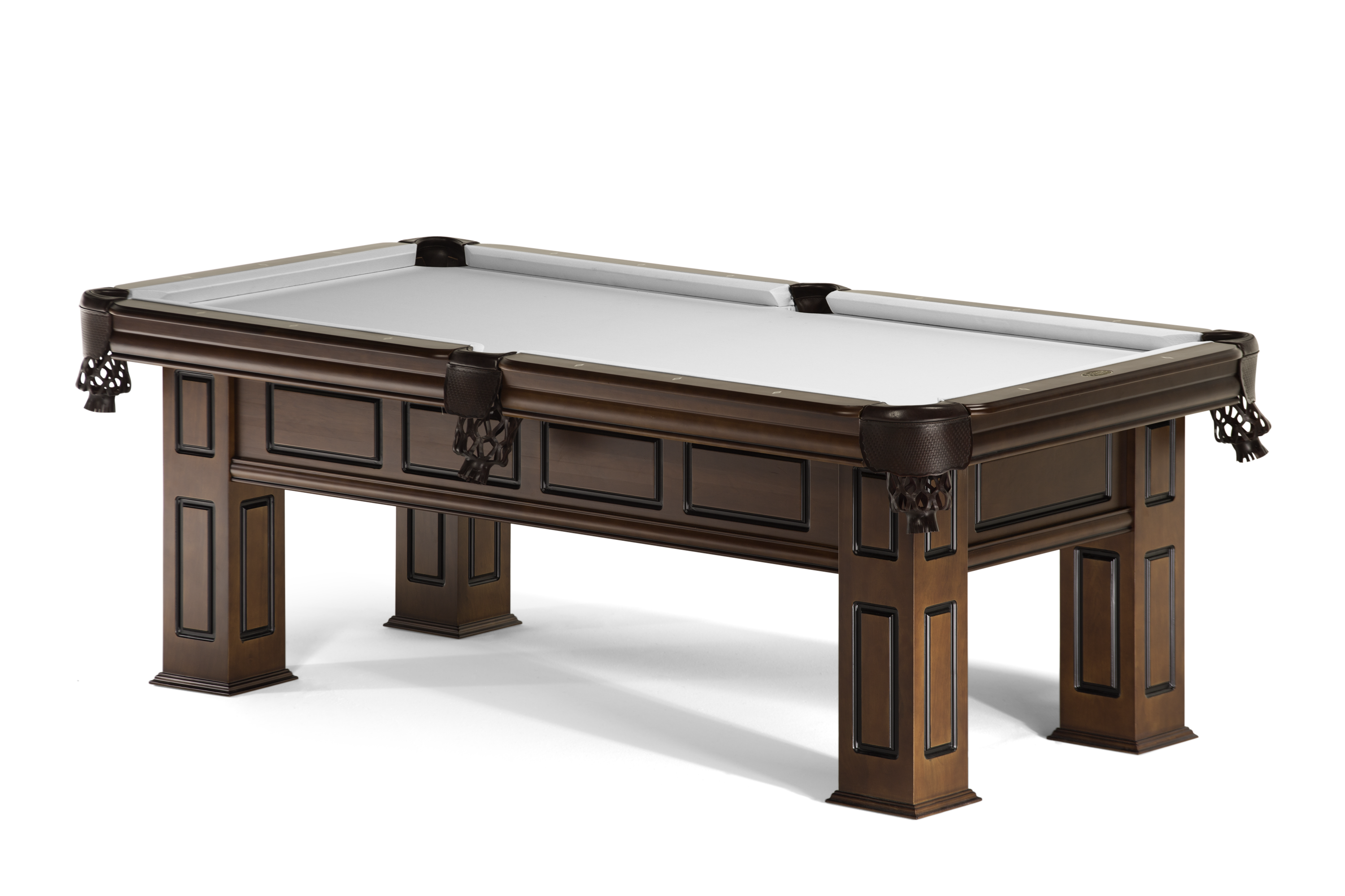 Spencer Marston S Arlington Is A Solid Hardwood Pool Table Whose Timeless Design Conveys Strength And Durability Stained In Hand Rubbed Antique Pecan