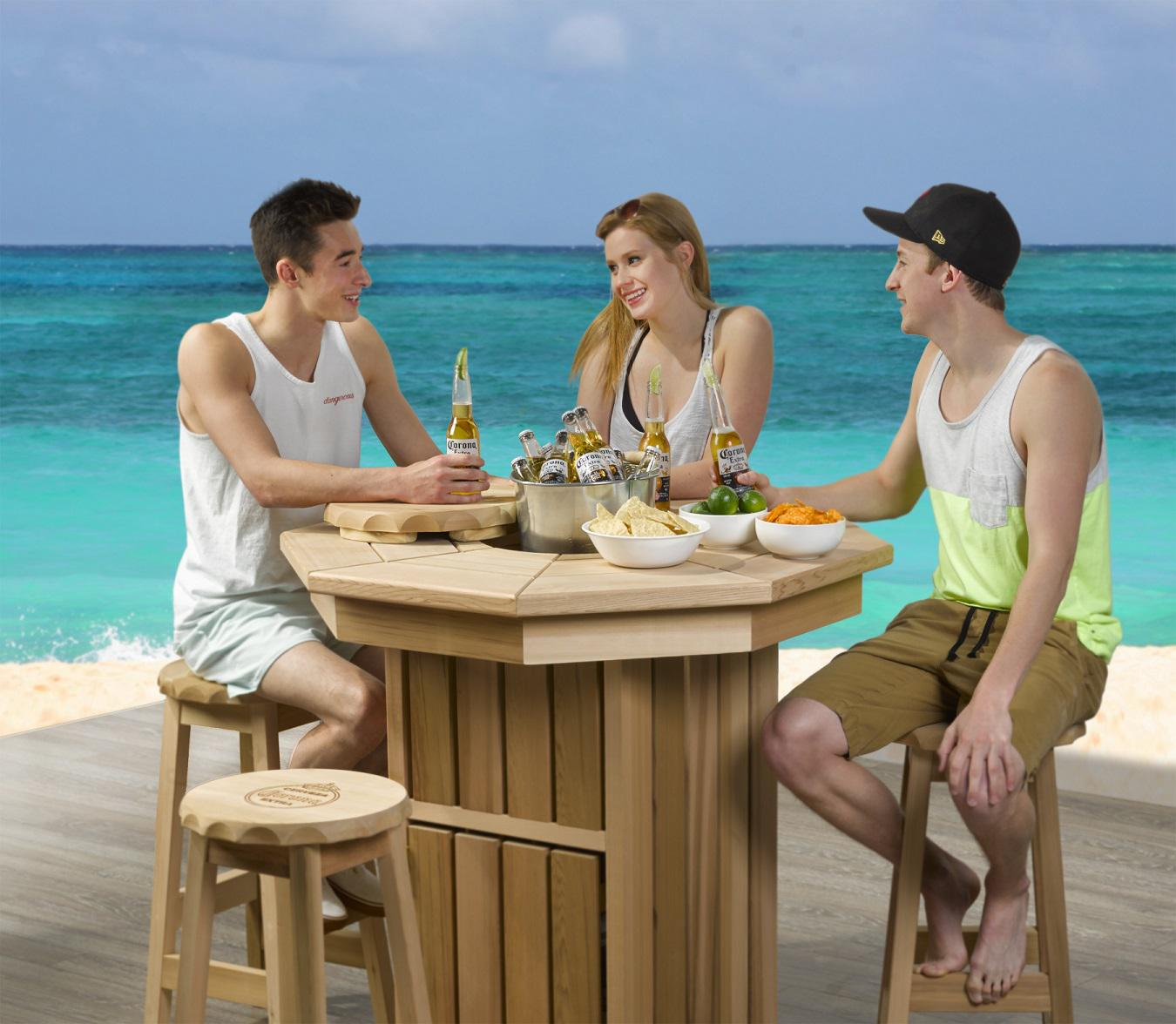 Corona Licensed Products Corona Outdoor Pub Table Set