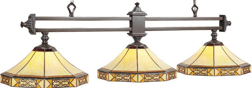 Mission Filigree Pool Table Lamp