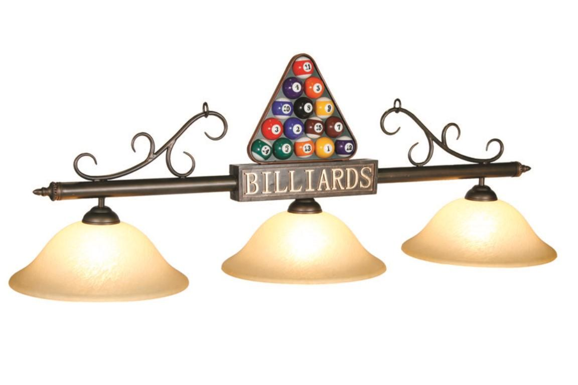 Billiards Bronze Bar With Amber Glass Shades Pooltables Com