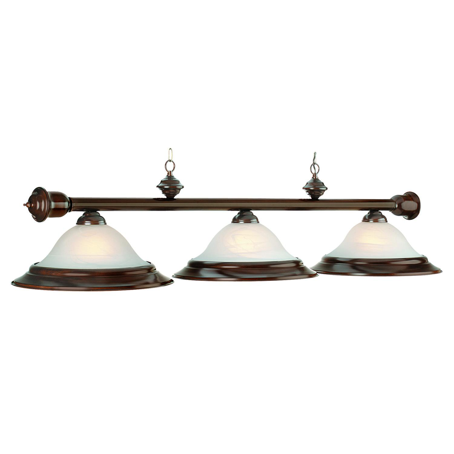 Wood Trimmed Pool Table Lamps