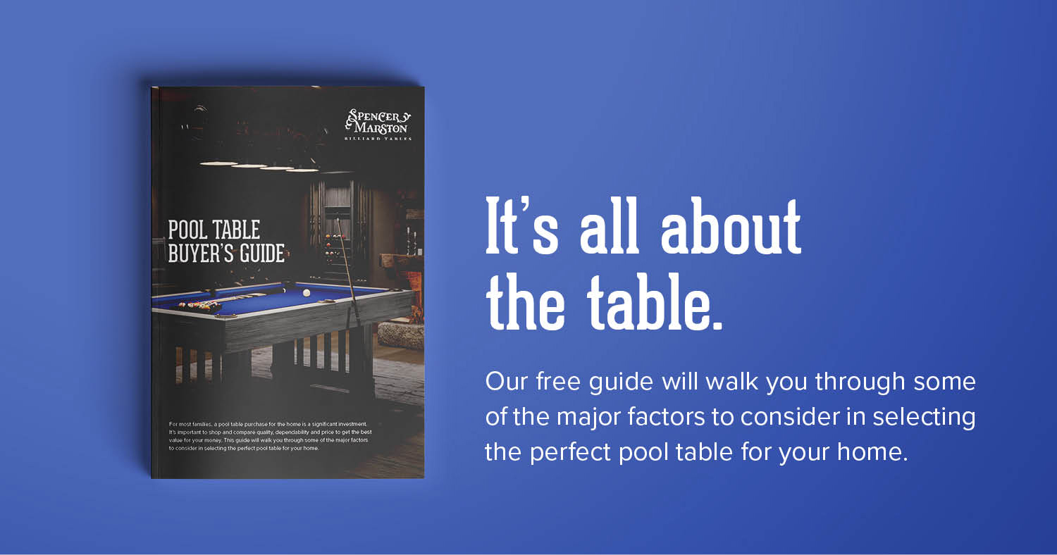 Download the Pool Table Buyer's Guide